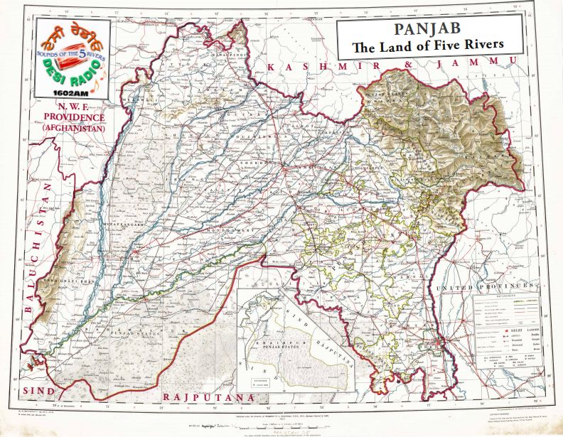 Pre and post partition maps of the Panjab | Desi Radio